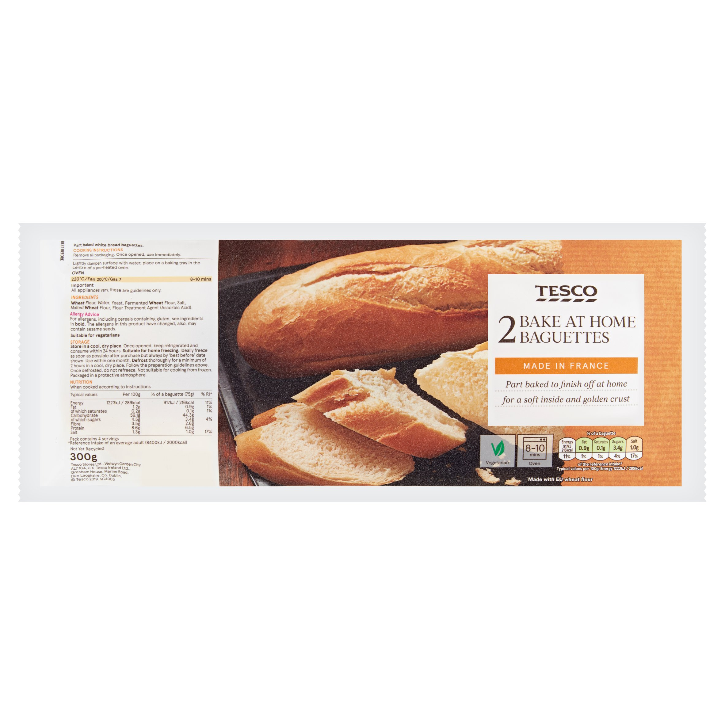 Tesco 2 Homebake Baguettes