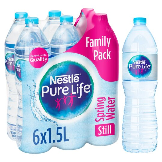 Nestle Pure Life Bottled Water 1.5L X 6