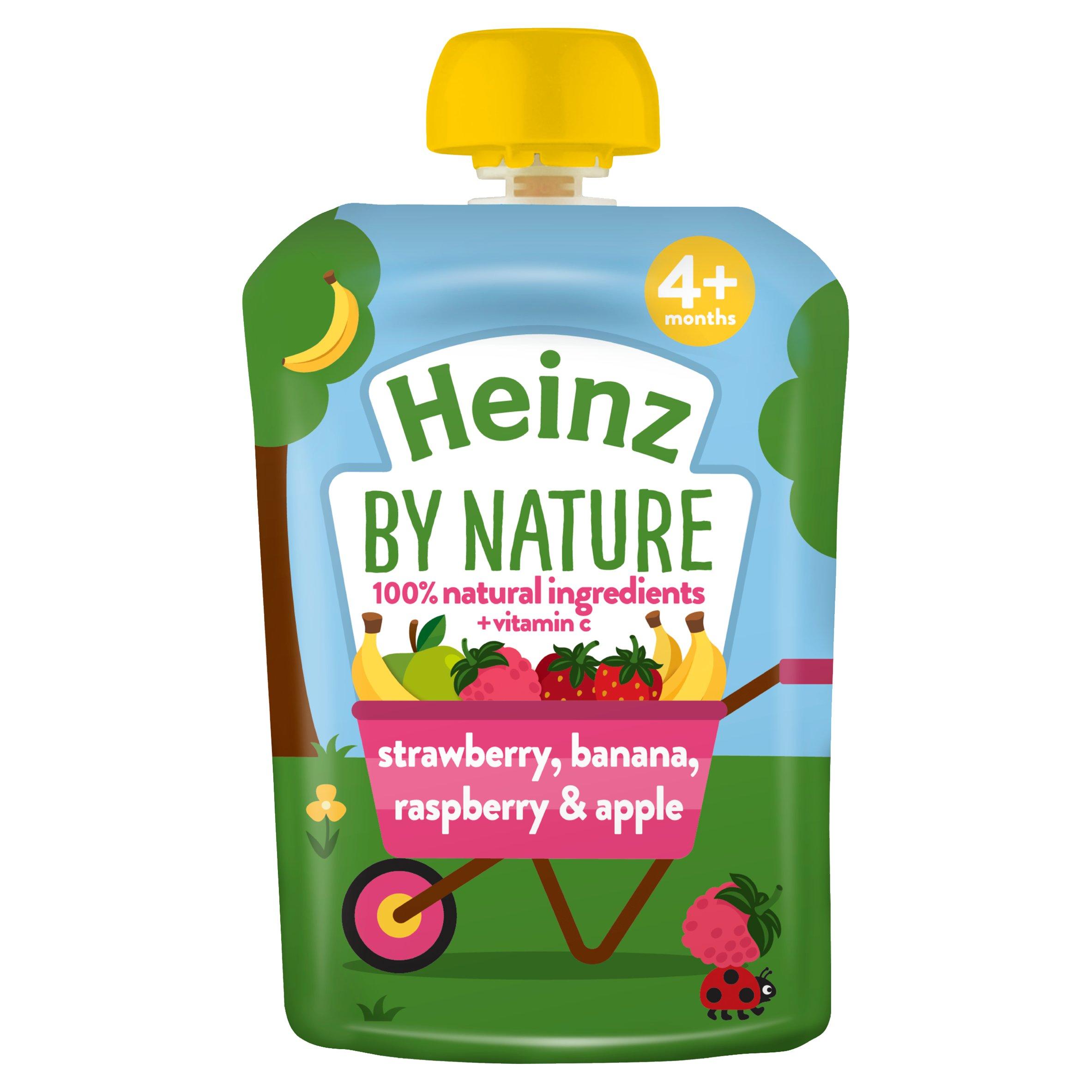 Heinz Fruit Pouch Strawberry Raspberry & Banana 100G