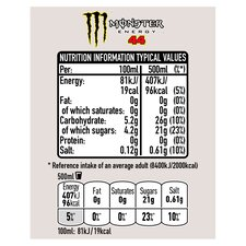 image 3 of Monster Lewis Hamilton Energy Drink 4X500ml