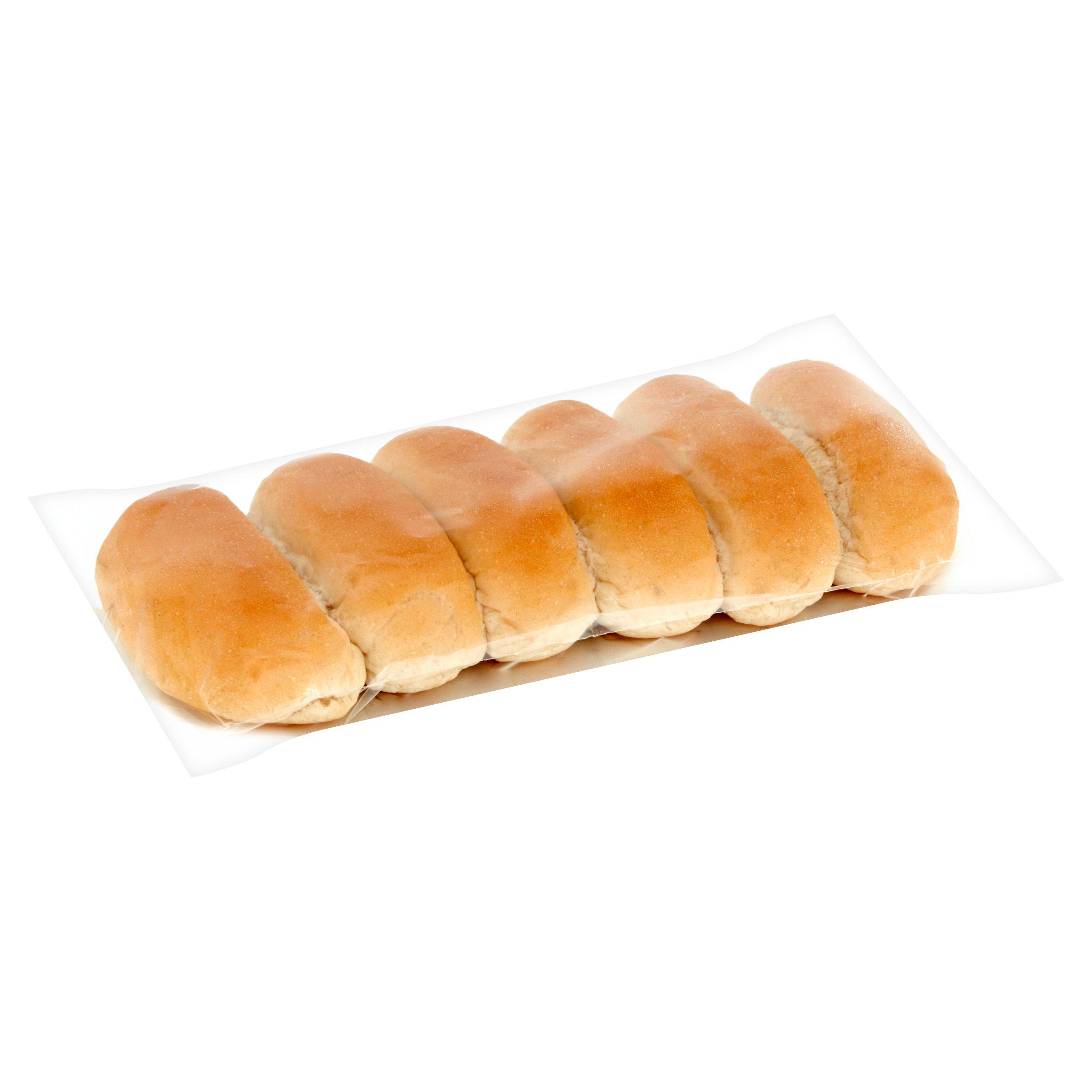 6 Pack White Finger Rolls
