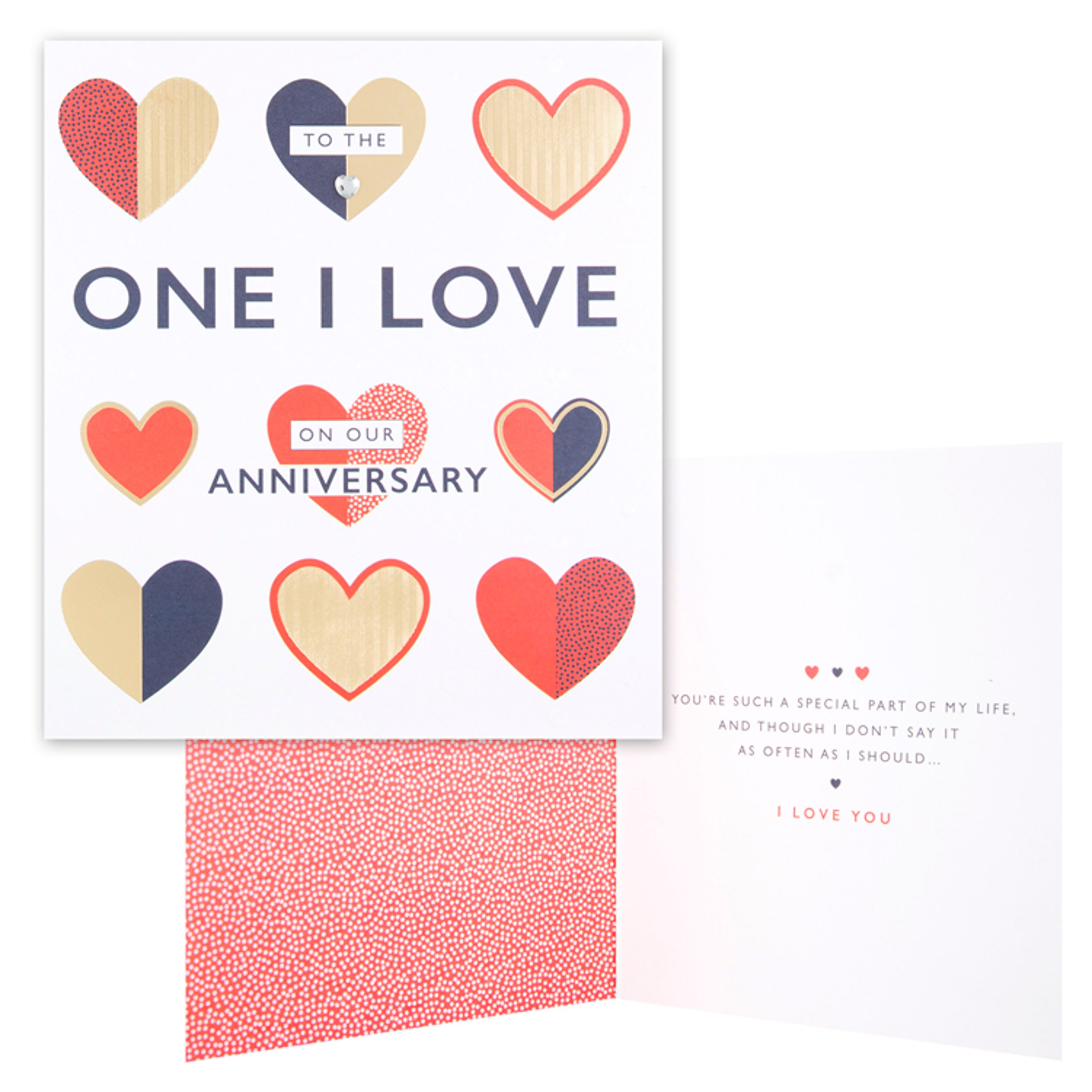 To The One I Love Anniversary Card