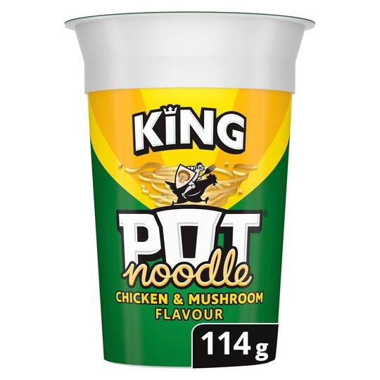 image 1 of Pot Noodle King Chicken & Mushroom 114G