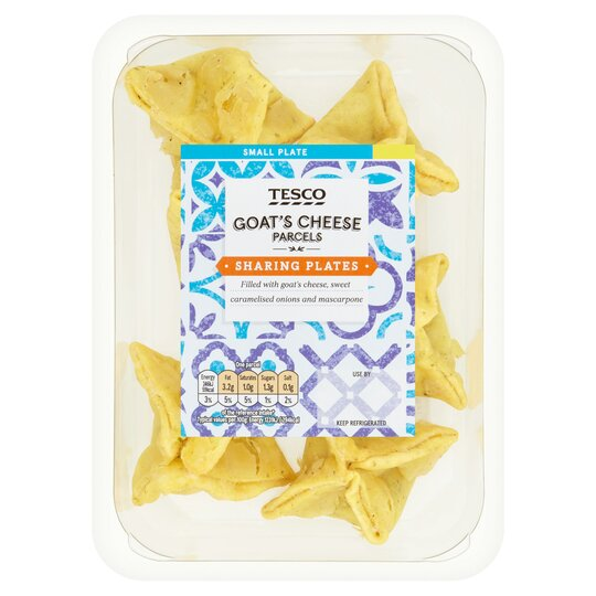 Tesco Goat's Cheese Parcels 132G