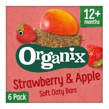 image 1 of Organix 12 Month Strawberry Cereal Bar 6X30g