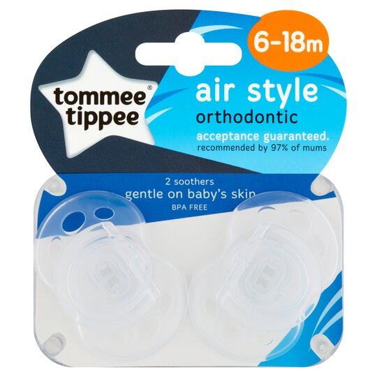 Tommee Tippee Closer To Nature 6-18Mth Air Soother X2