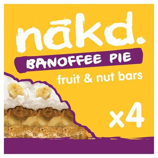 Nakd Banoffee Pie Fruit & Nut Bars 4 Pack 140G