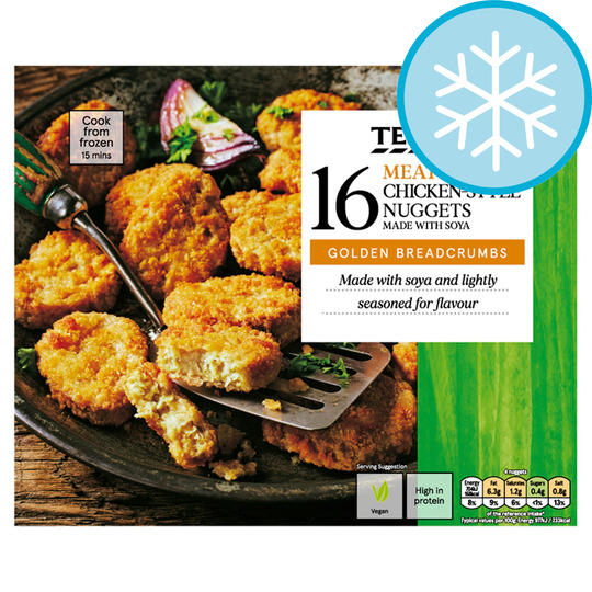 Tesco Meat Free 16 Chicken Style Nuggets 320g