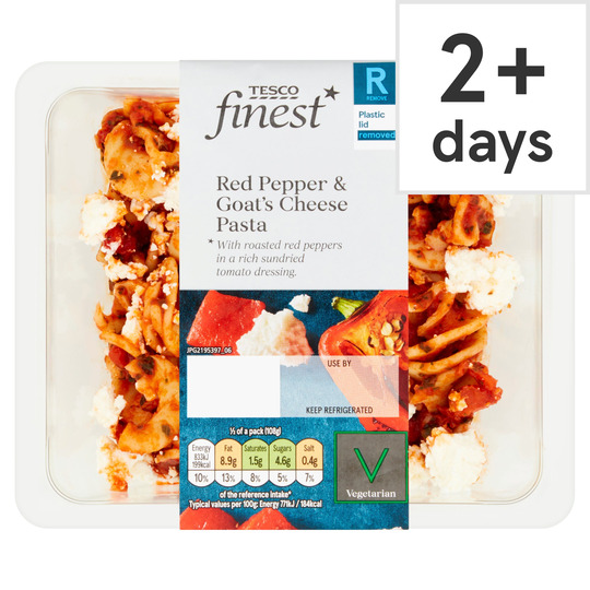 Tesco Finest Red Pepper & Goats Cheese Pasta Salad 215G