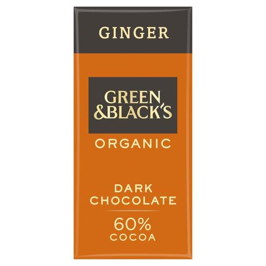 Green & Blacks Organic Ginger Chocolate 90G