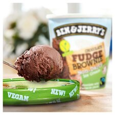 image 3 of Ben & Jerry's Non Dairy Chocolate Fudge Brownie Ice Cream 465Ml