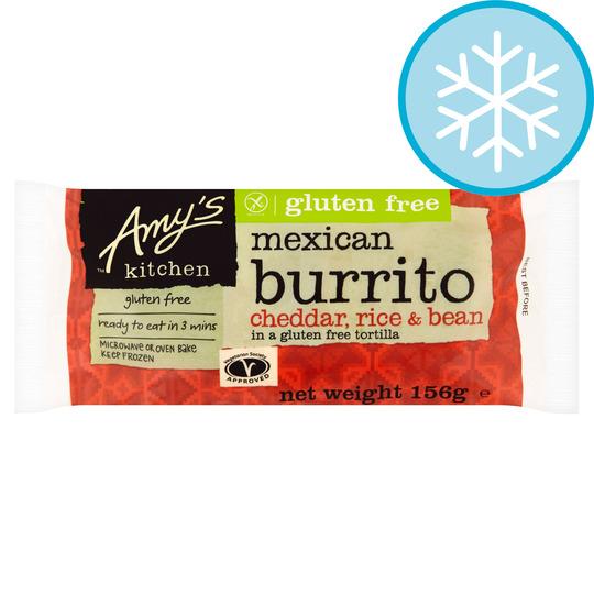 Amy's Kitchen Cheddar Rice & Bean Burrito 156G