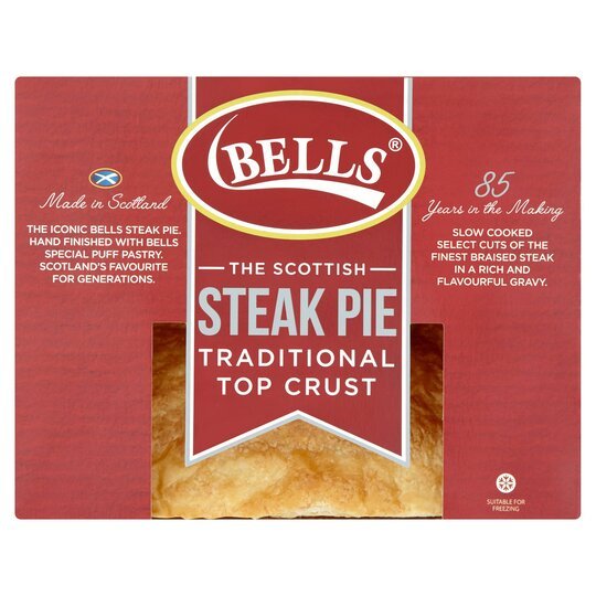 Bells Scotch Steak Pie Serves 2 371G - Tesco Groceries