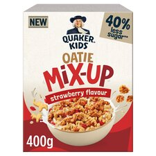 image 1 of Quaker Kids Oatie Mix Up Strawberry Cereal 400G