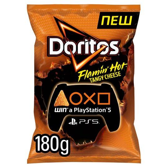 Doritos Flamin Hot Tangy Cheese Corn Chips 180G