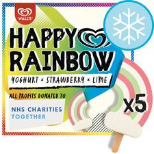image 1 of Happy Rainbow Yogurt Strawberry & Lime 5X90ml