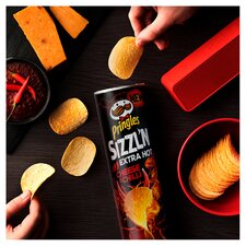 image 2 of Pringles Sizzl'n Extra Hot Cheese & Chilli 180G