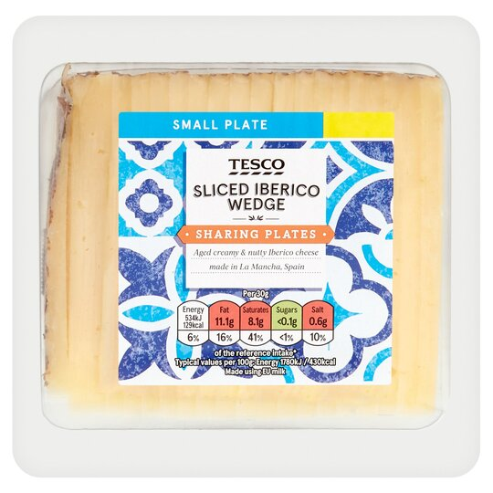 Tesco Sliced Iberico Cheese 200G
