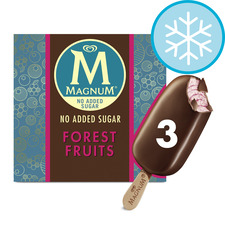 image 1 of Magnum No Added Sugar Forest Fruits 3 X 90Ml