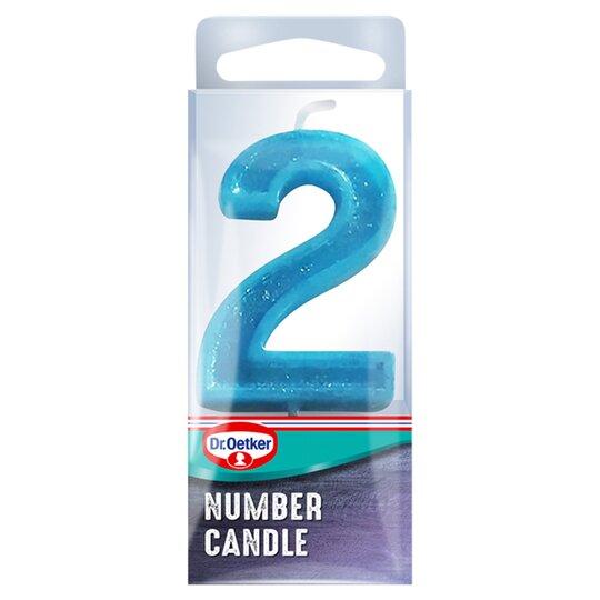 Dr. Oetker Number 2 Candle