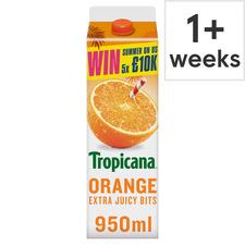 image 1 of Tropicana Orange Juice With Extra Juicy Bits 950Ml