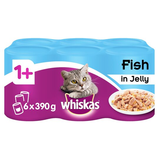 Whiskas Adult Fish Selection In Jelly 6x390g Tesco Groceries