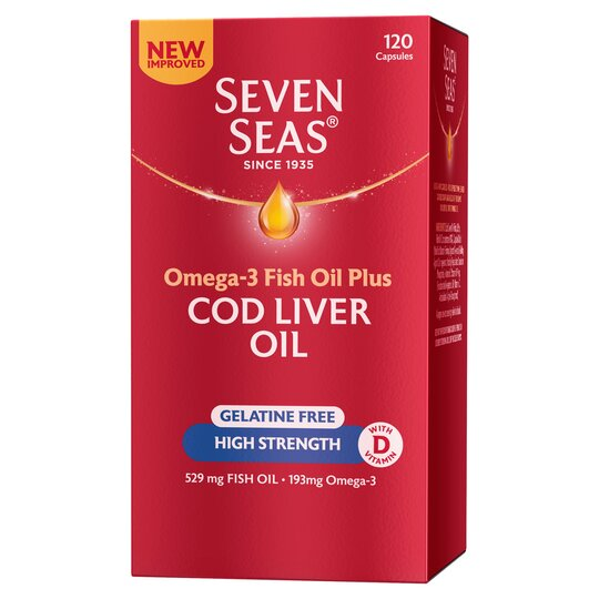 image 1 of Seven Seas One A Day High Strength Cod Liver Oil 120'S