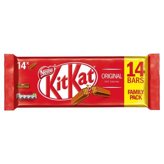 Kit Kat 2 Finger Milk Chocolate 14 Bar Pack 289.8G