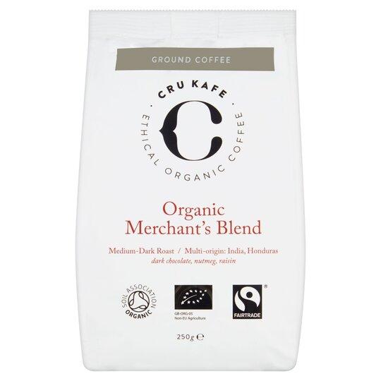 Cru Kafe Organic Merchants Blend Ground Coffee 150G