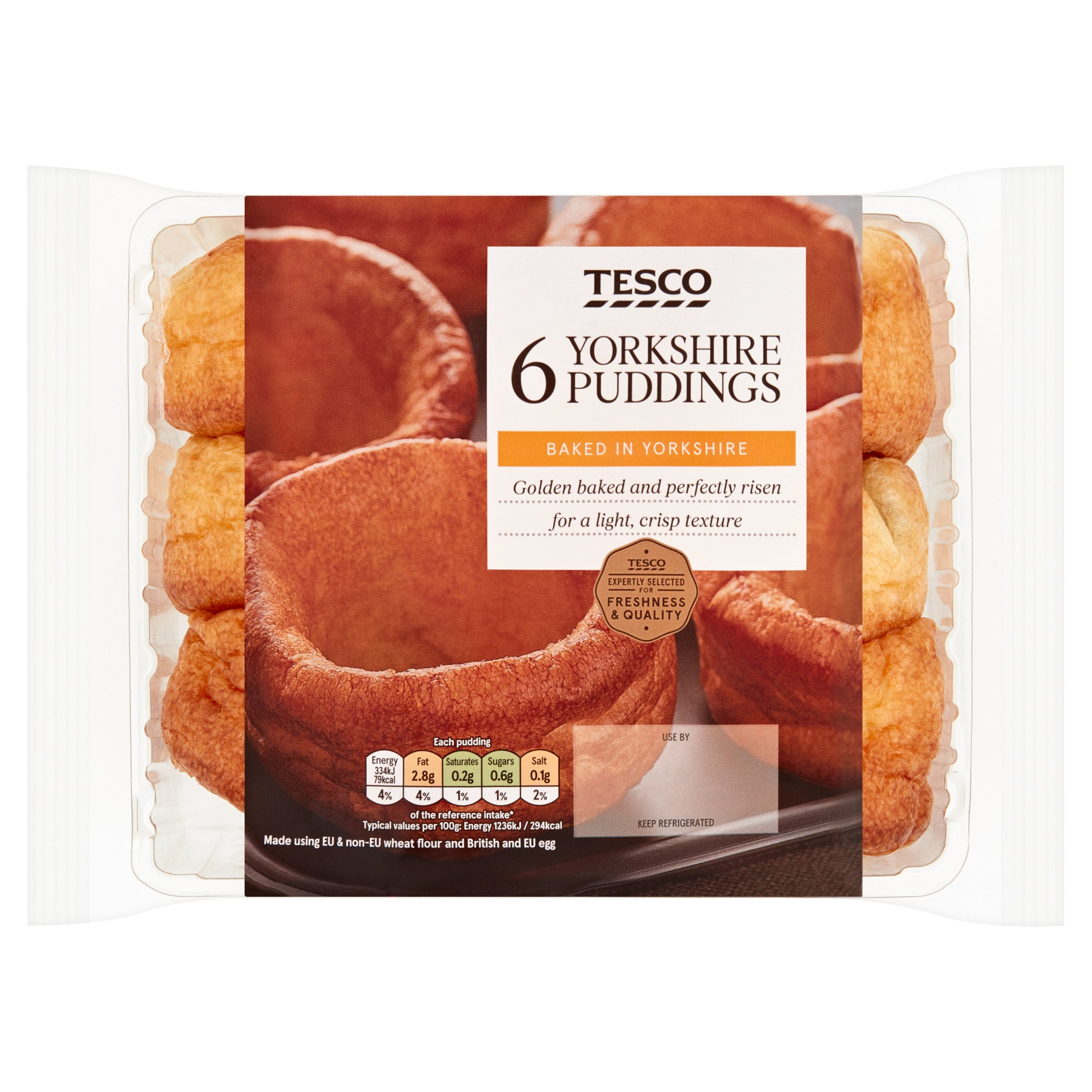 Tesco Yorkshire Puddings 6 Pack 180G