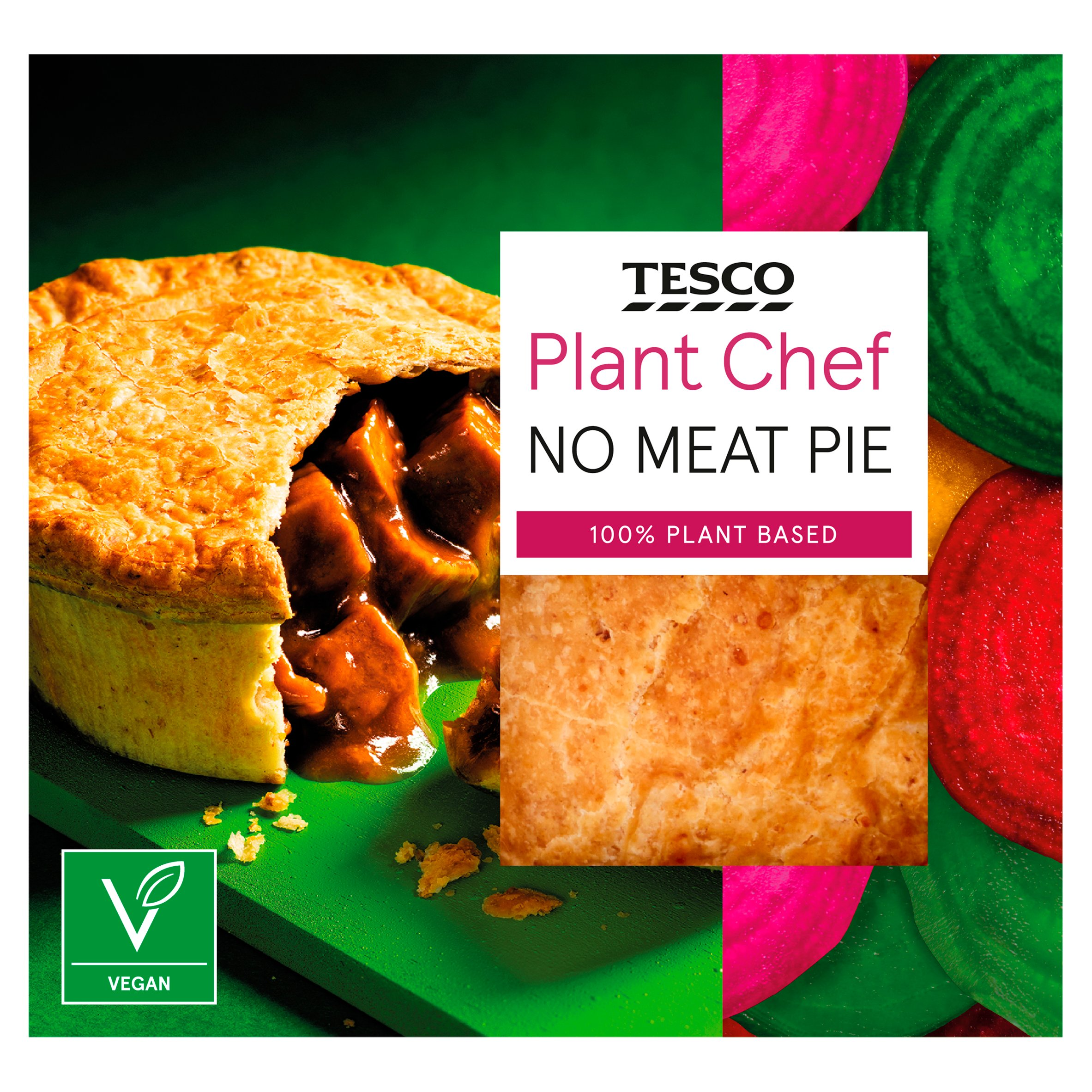 Tesco Plant Chef No Beef Pie 200G