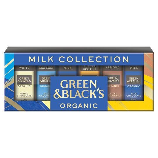 Green & Blacks Milk & White Mini Chocolate Bars 12 Pack 180G