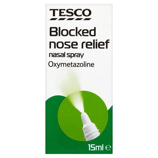 Spray nasal para el frío tesco