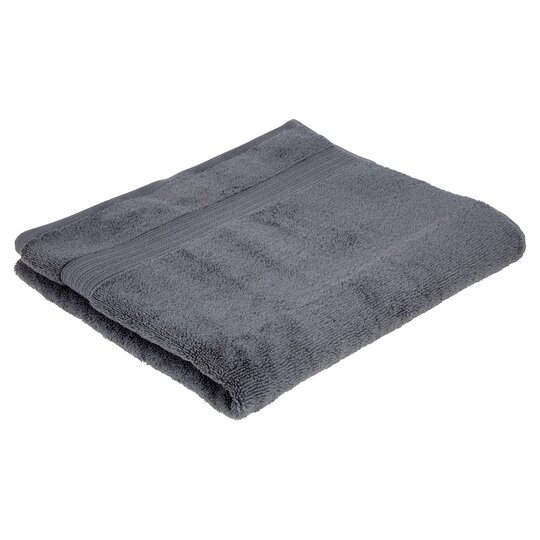 Tesco Supersoft Cotton Bath Towel Grey