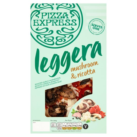 Pizza Express Legerra Mushroom Ricotta 185g Tesco Groceries