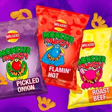image 4 of Walkers Monster Munch Variety Snacks 12X25g