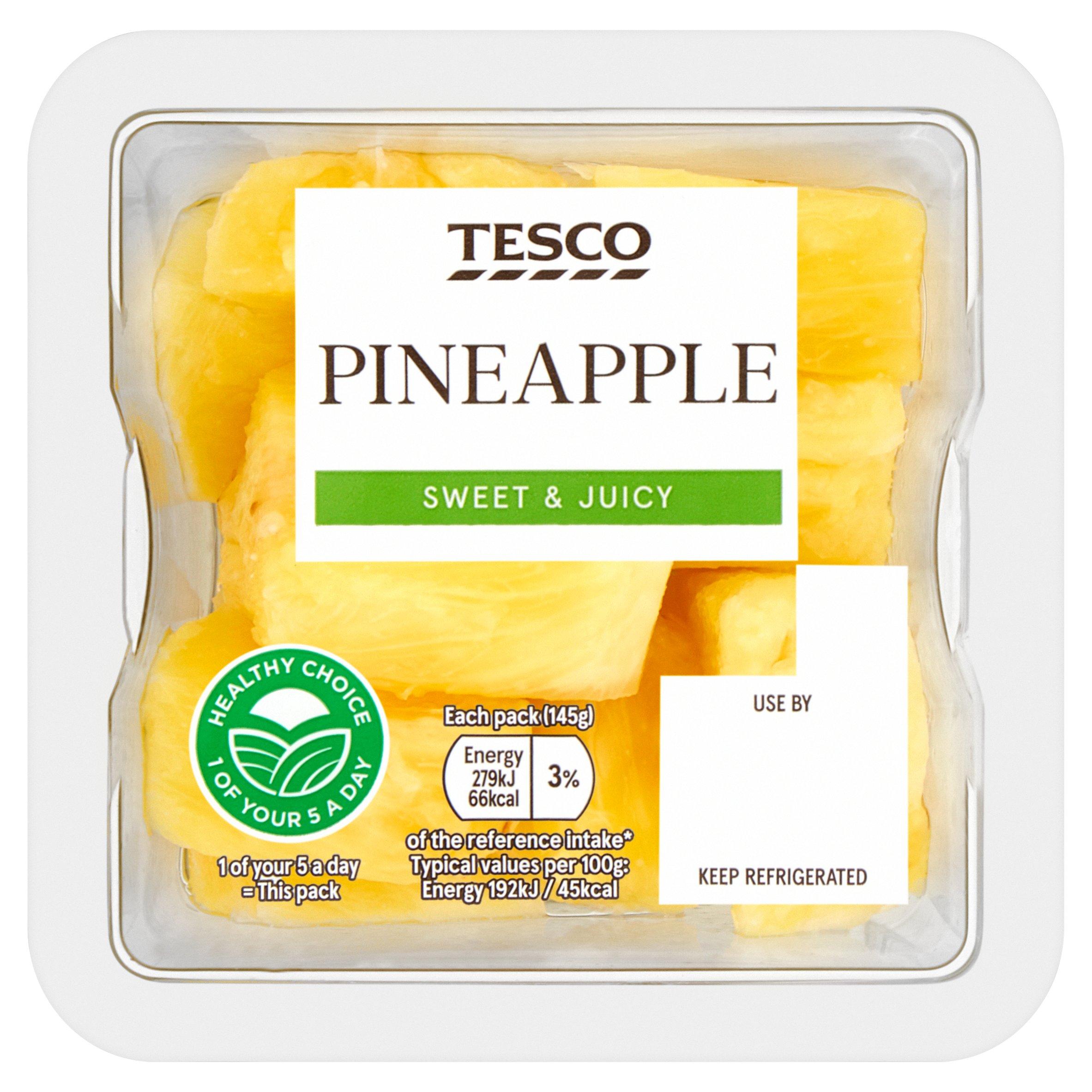 Tesco Pineapple Chunks 145G