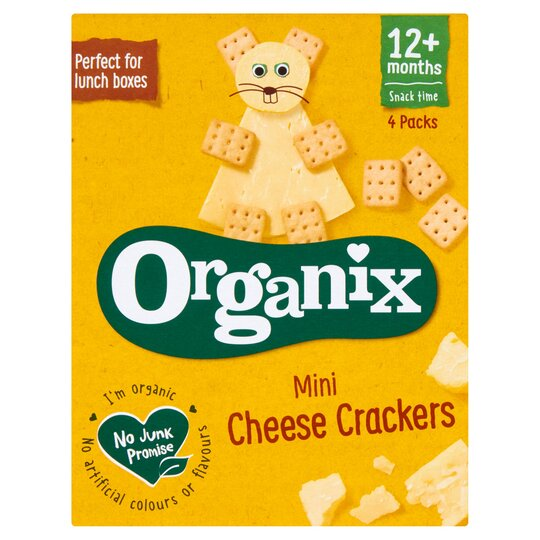 Organix Mini Cheese Cracker 4 X 20G