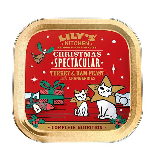 Lilys Kitchen Xmas Turk & Ham for Cats 85g