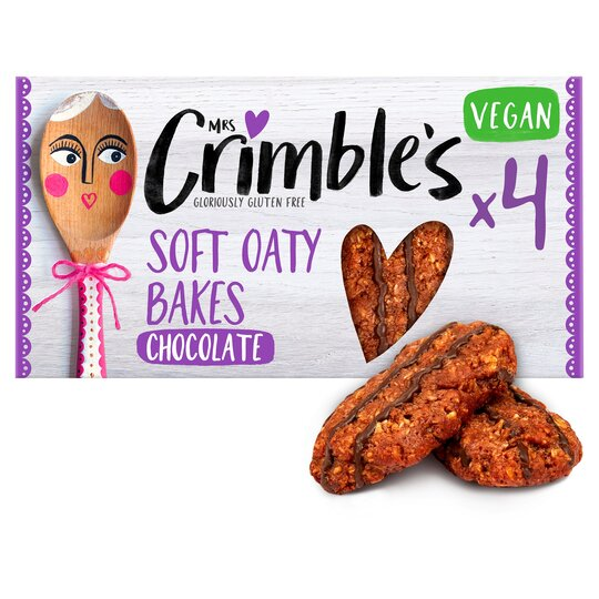 Mrs Crimble's 4 Soft Oaty Bakes With Chocolate 160G