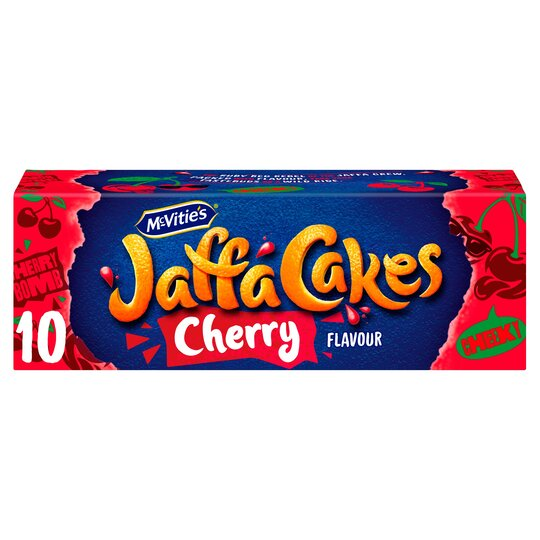 Mcvitie's Jaffa Cakes Cherry Flavoured Biscuits 10 Pack
