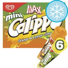 image 1 of Walls Calippo Max Orange Lemon & Lime 6X80ml