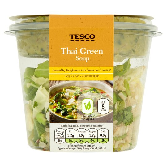Tesco Thai Green Soup 335g Tesco Groceries