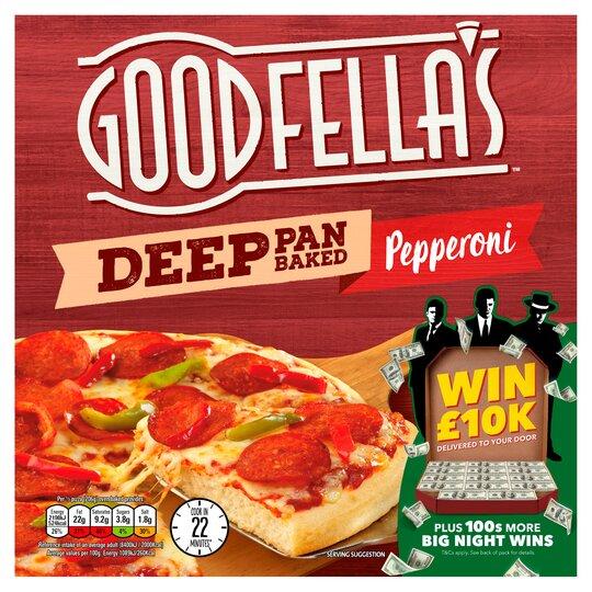 Goodfella's Deep Pan Baked Pepperoni Pizza 411G