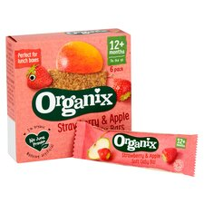 image 2 of Organix 12 Month Strawberry Cereal Bar 6X30g