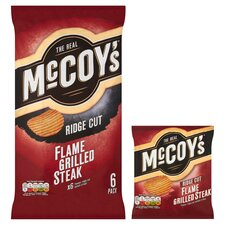 image 2 of Mccoy's Flame Grilled Steak Crisps 6X25g
