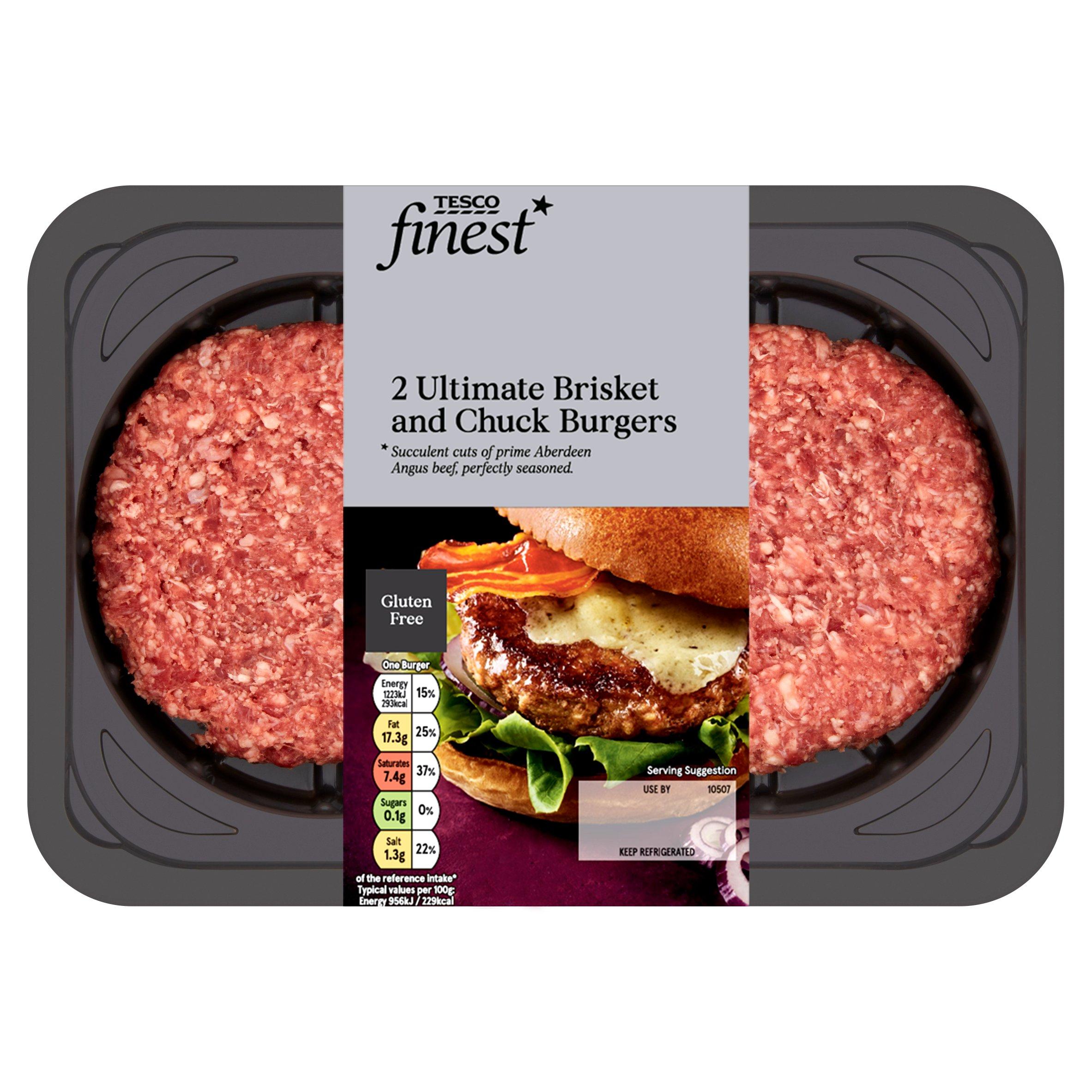Tesco Finest Chuck & Brisket Burger 340G