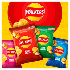 image 4 of Walkers Ready Salted Crisps 6X25g