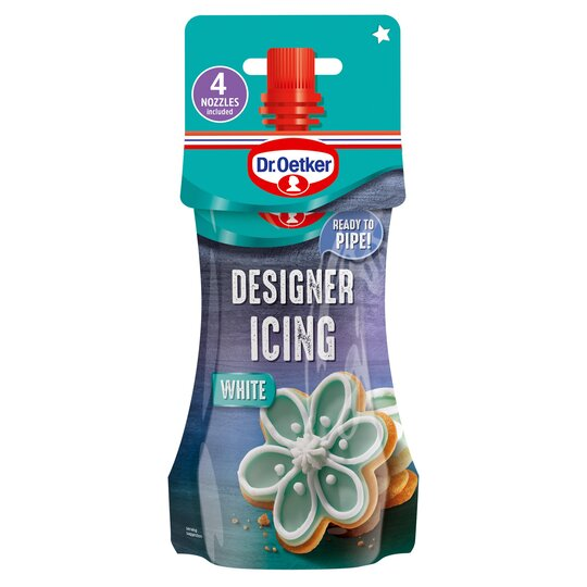 Dr. Oetker White Designer Icing Pouch 140G