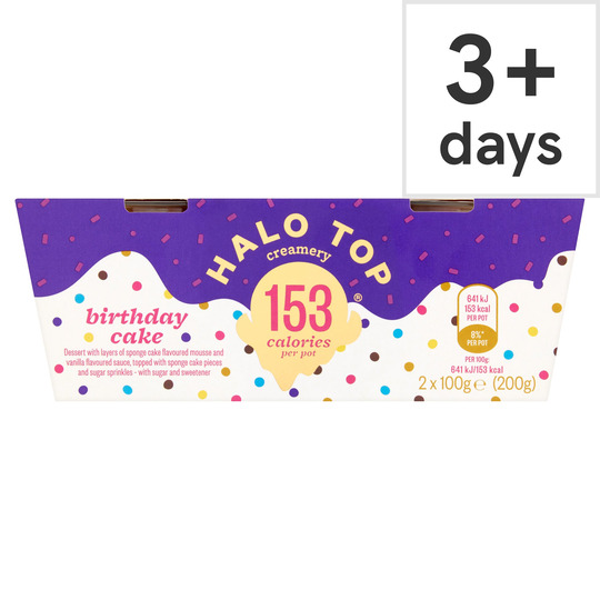 Strange Halo Top Pots Birthday Cake 2 X 100G Tesco Groceries Birthday Cards Printable Benkemecafe Filternl